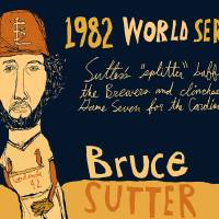 Bruce Sutter St Louis Cardinals Art Prints & Posters by jay perkins