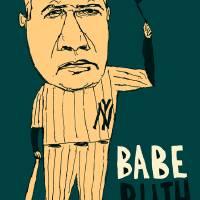 Babe Ruth NY Yankees Art Prints & Posters by jay perkins