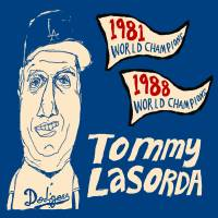 Tommy Lasorda Los Angeles Dodgers Art Prints & Posters by jay perkins