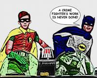 A crimefighter's work is never done