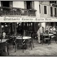 Trattoria In Venice - Italy Art Prints & Posters by Madeline Ellis