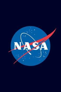 NASA Logo Poster by Jeff Vorzimmer