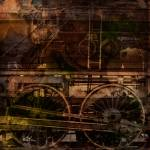 """Steam train industrial collage"" by pixeldreams"