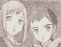 Naota and Mamimi from FLCL