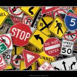 """US Traffic Signs Collage"" by badboo"