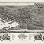 """Nantucket Birds Eye View 1881"" by ChrisSeufert"