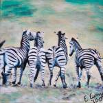 """Four Little Zebras"" by evelwoman84"