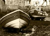 Fishing Cobles at Low Tide