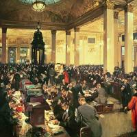 """The Underwriting Room at Lloyds of London "" by The Fine Art Masters"