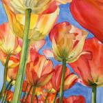 """""""Red Tulip Forest"""" by lindalou2"""