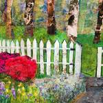 """Ghosts at the Garden Gate, Abstract Landscape"" by schulmanart"