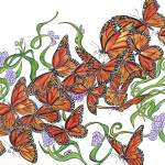 """Monarch Butterflies"" by KenRileyArt"