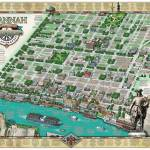 """Savannah Historic District Illustrated Map"" by KarpovageCreative"