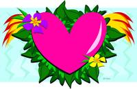Loving Heart with Plants
