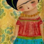 """Frida With A Big Flower"" by danitaart"