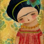 """20090227 Frida With A Big Blue Flower ACEO"" by danitaart"
