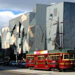 """Federation Square & Tram"" by ginadittmer"