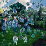 """Bubbles dancing in the park"" by LessardArt"