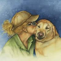 """Lady and her best friend"" by Nan Wright"
