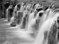 Falls at Sharon Woods in Black and White