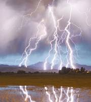 Lightning Striking Longs Peak Foothills 4C