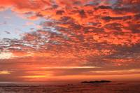 Red Dawn Sky on Sea of Cortez, Los Cabos, Mexico