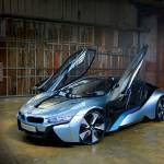 """BMW i8 Concept Doors Open 2012"" by roadandtrackphotos"