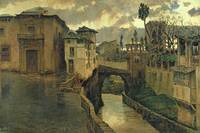 Street Scene in Granada by Antonio Munoz Degrain