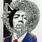 """Jimi Hendrix"" by bengman007"