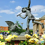 """The Boy and the Goose Statue, Derby (18171-RDA)"" by rodjohnson"