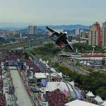 """IndyCar Sao Paulo Fly By 2012"" by roadandtrackphotos"