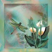 Contemporary Dragonfly dream Art Prints & Posters by Gina Femrite