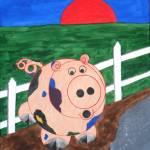 """""""WBA141 Piglet"""" by Waynes-Art"""