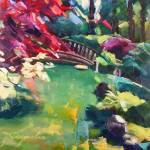"""Japanese Garden"" by jacquelinebrewerart"