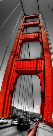 The Golden Gate Bridge-Fish Eye View