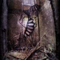 Collapsed spiral staircase Art Prints & Posters by Davide Capponi