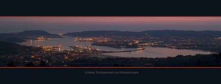 Ferrol, Panorama from Mount Marrajon, Fene
