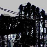 """Three Lift Bridges, Calumet River"" by LeonSarantosArtist"