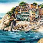 """Cinque Terra"" by WillyDaleArt"