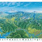 """Southwest Washington"" by jamesniehuesmaps"