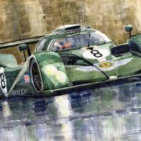 Bentley Prototype EXP Speed 8 Le Mans racer car Art Prints & Posters by Yuriy Shevchuk
