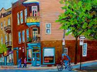 PAINTINGS OF MONTREAL STREETS WILENSKY'S LUNCH DIN