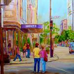 """""""PAINTINGS OF MONTREAL STREETS HOLT RENFREW SHERBRO"""" by carolespandau"""