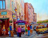 PAINTINGS OF OLD MONTREAL LA CREME DE LA CREME CAF