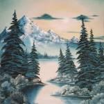 """""""WO-245, Mountain Sunrise"""" by Waynes-Art"""
