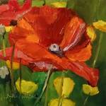 """Poppy Profusion!"" by normawilsonfineart"