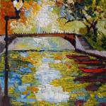 """""""Canal in Annecy France Oil Painting"""" by GinetteCallaway"""