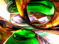 Emerald City Abstract
