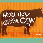 """how now brown cow?"" by stacykron"
