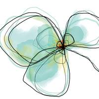 Three Teal Petals